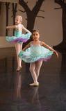 förtjusande balettdeltagare två arkivfoton