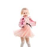 Förtjusande barndans och snurr Fotografering för Bildbyråer
