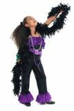 förtjusande barndansdiva arkivbild