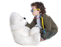 förtjusande barndoktor Arkivfoton