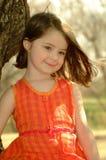 förtjusande barnflicka Royaltyfri Fotografi