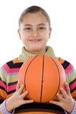 förtjusande basketflicka Royaltyfria Bilder