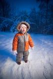 Förtjusande behandla som ett barn att gå i aftonpark 免版税库存照片
