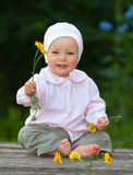 förtjusande behandla som ett barn det gammala ett året Royaltyfria Foton