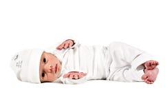 förtjusande behandla som ett barn född ny söt white Arkivbild