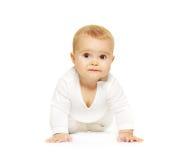 förtjusande behandla som ett barn isolerad white Fotografering för Bildbyråer