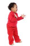 förtjusande behandla som ett barn lyckligt Fotografering för Bildbyråer
