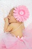 förtjusande behandla som ett barn nyfött sova för flicka Royaltyfri Bild
