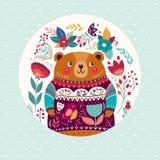 Förtjusande björn Arkivbild