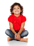 Förtjusande caucasian flicka Royaltyfri Foto