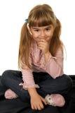 förtjusande flicka little Arkivfoton