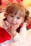 Förtjusande liten flicka Arkivbilder