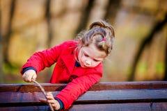 Förtjusande liten litet barnflicka Arkivbilder