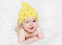 Förtjusande nyfött behandla som ett barn Royaltyfria Bilder