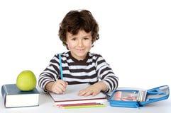 förtjusande studera för pojke Arkivfoton