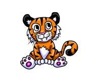 Förtjusande Tiger Cub vektor illustrationer