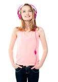 förtjusande trimmad flickamusik Royaltyfri Fotografi