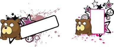 Förtjusande uttryck för utrymme för kopia för tecknad film för nallebjörn royaltyfri illustrationer