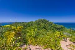 Förtjust Ferdinand naturlig reserv, Seychellerna royaltyfria foton