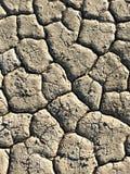 Förtorkad och törstig jord som skjutas från över royaltyfria foton