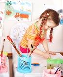 förträning för barnmålarfärgbild Royaltyfria Foton