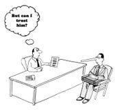 förtroende stock illustrationer