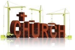 förtroende för religion för byggnadskristenkyrka vektor illustrationer
