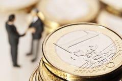 Förtroende i eurovalutan Arkivbild