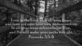 Förtroende i Herren Arkivbilder