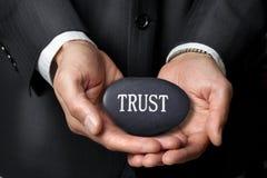 Förtroende räcker affärsetik Arkivfoto