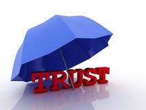 förtroendebegrepp för imagen 3d, på vit bakgrund Arkivfoto