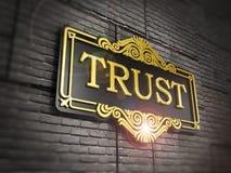 Förtroendeskylt Arkivfoto