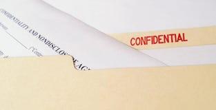 Förtrolig Icke-avslöjande överenskommelse Arkivfoton
