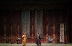 """Förtrolig konversation-Shanxi Operatic""""Fu Shan till Beijing† Arkivbilder"""
