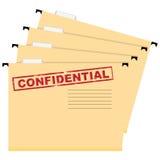 Förtroliga dokument stock illustrationer