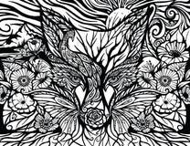 förtrollad skog royaltyfri illustrationer