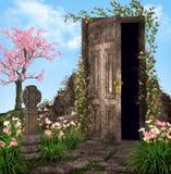 förtrollad trädgård Arkivfoto