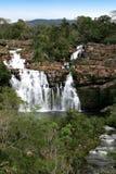 Förtrollad väl vattenfall - Chapada DOS Veadeiros - Brasilien Arkivfoton