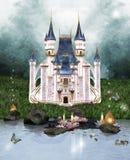 Förtrollat slott Arkivfoto