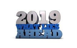 2019 - Förutsägelser - vad ligger framåt vektor illustrationer