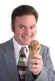 förutse kräm- is för affärsman royaltyfri foto