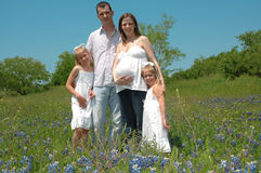 förväntansfull familj Royaltyfria Bilder