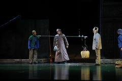 Förvärv av den matJiangxi operan en besman Arkivbild