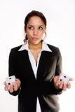förväxlad affärskvinna Arkivfoton