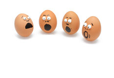 förvånad ägggrupp Arkivbilder
