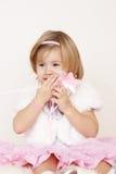 förvånad liten princess Royaltyfri Fotografi