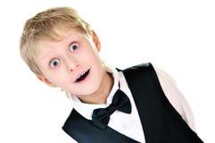 förvånad pojke Arkivfoton