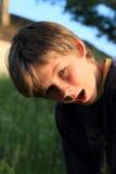 förvånad pojke Royaltyfria Foton