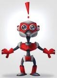 Förvånad robot royaltyfri illustrationer