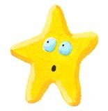 förvånad stjärna Royaltyfri Fotografi